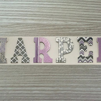 Custom Hand Painted Letters Wooden Wall Hanging Modern Design Ch