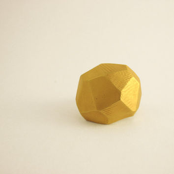 statement golden ring, geometric, faceted, cocktail ring hand made, dome ring, baladi, rustic, raw, engagement , designer ring, valentine's