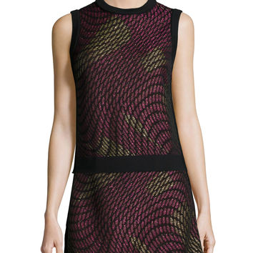 Metallic Web Sleeveless Top, Size: 42 IT (6 US), pink - M Missoni