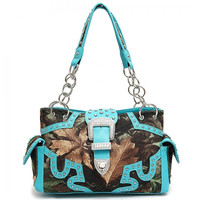Conceal Carry Camo Buckle Handbag