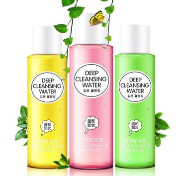 1 PC Make Up Remover Deep Cleansing Water Face Cleansing Removing Oil for Eye Lip Face Care Cleanser Gentle No Stimulation Z3