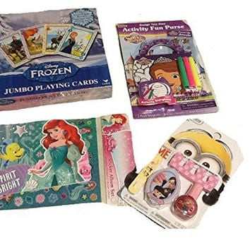Disney princess toe nail make up kit with sticker album set 4 Counts