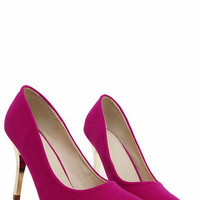 Pink & Gold High Heel Fashion Shoes