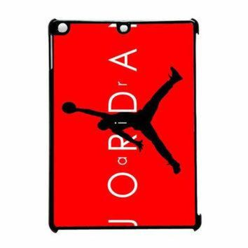 LMFUG7 Jordan Black Logo Red Background13 iPad Air Case