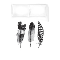 Feathered Trio Duvet Cover