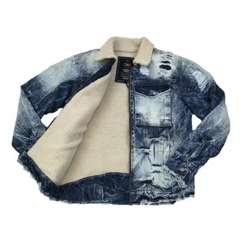 Jordan Craig - Mens - Denim Jacket w/ Shearling