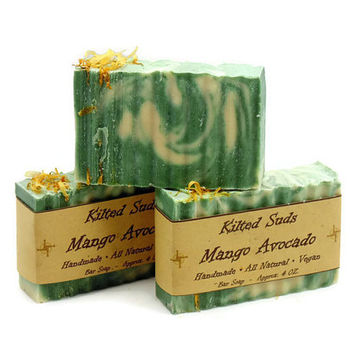 Mango Avocado, Mango Soap, Avocado Soap, Coconut Milk Soap, Bar Soap, Vegan Soap
