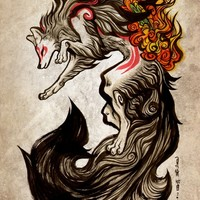 """Amaterasu"" - Art Print by Kiri Yu"