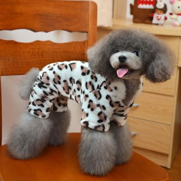Pet Clothing Adorable Dog Fashion Brown Leopard Sweatshirt for Animals-Size S