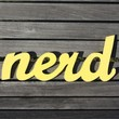 NERD recycledwood sign by WilliamDohman on Etsy