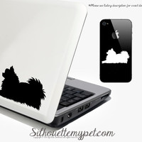 Pomeranian Decal Vinyl Sticker - SilhouetteMYpet Design:POM02