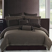 Highland Feather Modern Waves Jacquard Duvet Cover Collection