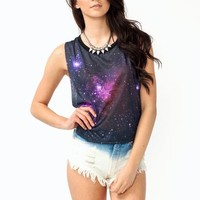 graphic-galaxy-tank BLACK - GoJane.com