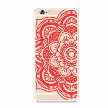 Red Tattoo Boho Mandala Case for iPhone