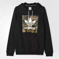 ONETOW Adidas Fashion Casual Men Long Sleeve  Pullover Hoodie Sweater