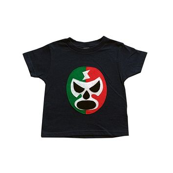 Kids T-shirt - Luchador Rojo + Verde - Lucha Libre - Toddler T-Shirt - Black/Red/Gree