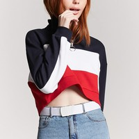 Fleece Colorblock Top