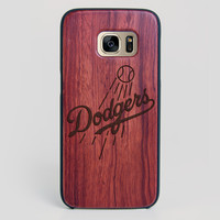 Los Angeles Dodgers Galaxy S7 Edge Case - All Wood Everything