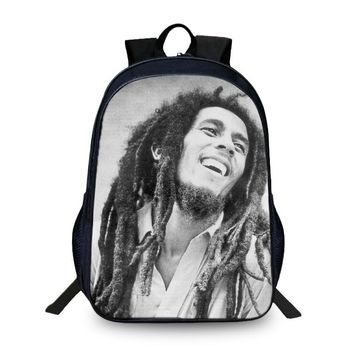 BAOBEIKU Hot Sale Backpack Bob Marley 3D Printing Bags Cool Children SchoolBags For Girls Boys Men Book Bag Kid Bags New Arrival