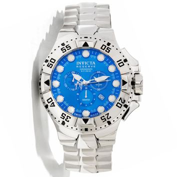 Invicta 13081 Men's Reserve Excursion Blue Dial Stainless Steel Bracelet Chronograph Dive Watch