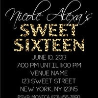 DIY Printable Cheetah Galore Sweet 16 Invitation