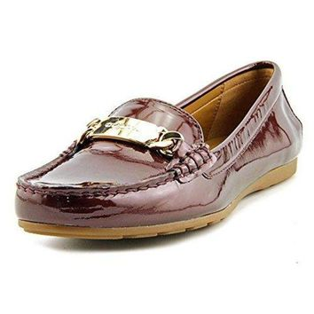 ESB3DS Coach Olive Women Moc Toe Patent Leather Burgundy Loafer