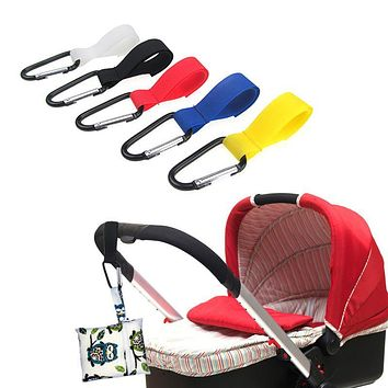 Universal Baby Mummy Pram Pushchair Shopping Bag Stroller Accessory Durable Hook Hanger Carabiner Clips