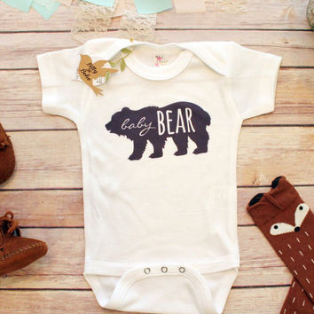 BABY BEAR Onesuit®, Little Brother Shirt, Hipster Baby Onesuit, Boho Baby Clothes, Newborn Onesuit®, Baby Shower Gift, Bodysuit, Rustic Baby