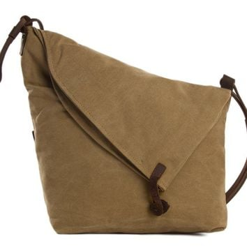 BLUESEBE WOMEN WAXED CANVAS CROSSBODY MESSENGER BAG 6631-K