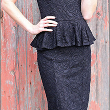Sabrina Peplum Dress [S1303] - $69.99 : Mikarose Fashion, Reinventing Modest Fashion
