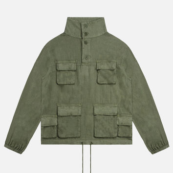 Linen M65 Pullover / Olive