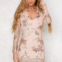 Intoxication Dress Gold