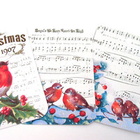 Birds Of Christmas Gift Tags Set of 6