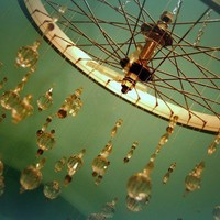 $200.00 customizable bicycle chandelier by meggancolleen on Etsy