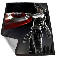 winter soldier captain america for Kids Blanket, Fleece Blanket Cute and Awesome Blanket for your bedding, Blanket fleece *02*