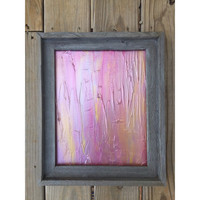 Framed Art, Barnwood Frame, Pink Painting, Impasto Painting, Abstract Art, Gold Wall Art, Silver Painting, Modern Painting, Affordable Art