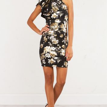 THE QUESTION METALLIC FLORAL DRESS - What's New