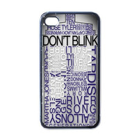 iPhone 4 Case, Tardis Doctor Who iPhone 4 4s Case (Black Case) - Optional : White Side