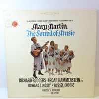 The Sound of Music, Mary Martin recording, Vintage Vinyl Album, Original Broadway Cast, vintage record, musical recording, collectible album