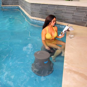 Liquidseat Pool Seat in Charcoal Granite (Grey)