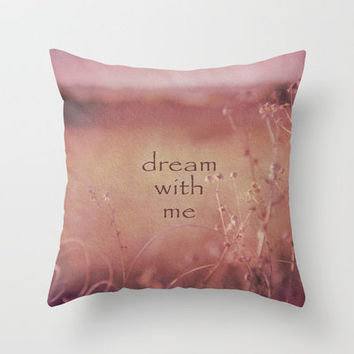 Dream With Me Throw Pillow by Shawn Terry King | Society6