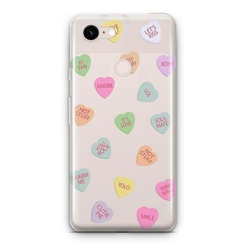 Valentines Candy Google Pixel 3 Clear Case