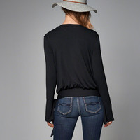 Womens Wrap-Front Top | Womens Tops | Abercrombie.com