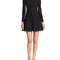RED Valentino - Scalloped-Tier Dress - Saks Fifth Avenue Mobile