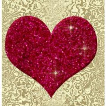 Gold And Red Glitter Heart Small Table Runner> Gold And Red Glitter Hear> Allcolor