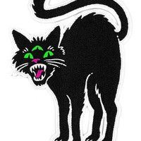 Three Eyed Cat Large Chenille Back Patch