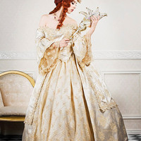 Ultimate Fantasy Marie Antoinette Lace Back Sparkle Gown Custom