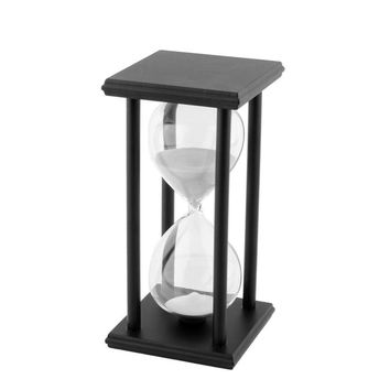 Black White Sand Hourglass Clock Timer