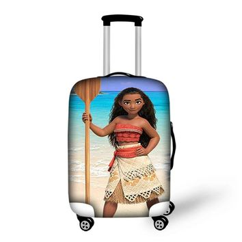 FORUDESIGNS Moana Princess Print Travel Accessories Case Covers Elastic Dustproof Luggage Cover Suitcase Protective For Women