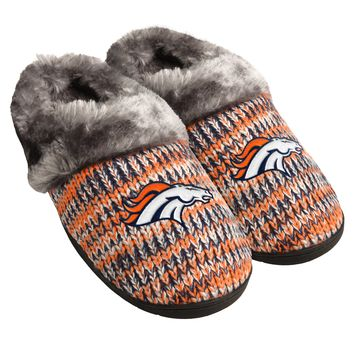Denver Broncos Official NFL Womens Peak Slide Slipper